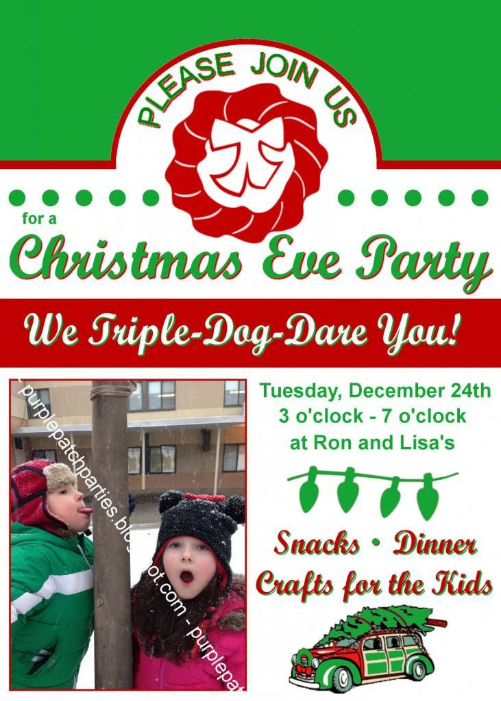A Christmas Story Party Ideas  The Purple Patch A Christmas Story themed Christmas Party