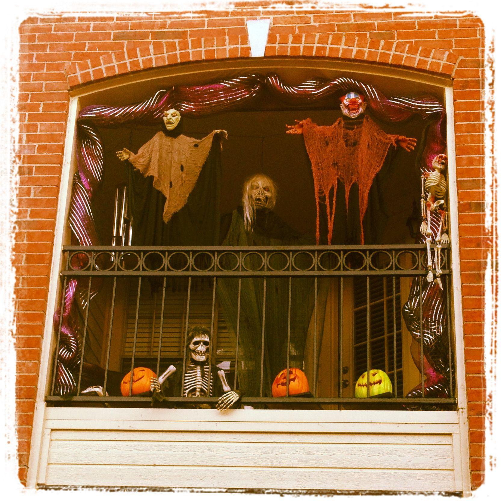 Apartment Halloween Decorating Ideas  Halloween time on the balcony