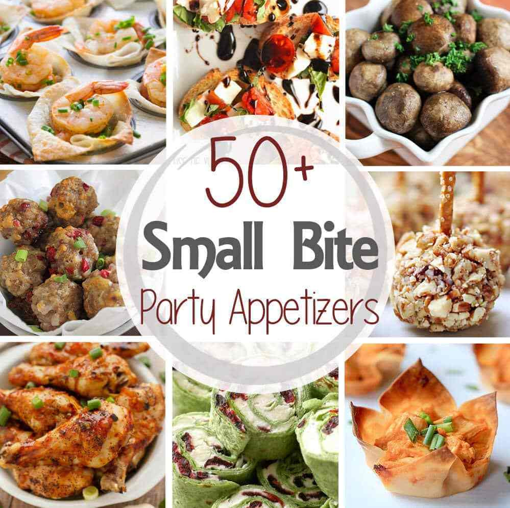 Appetizer Ideas For Christmas Party  50 Small Bite Party Appetizers Julie s Eats & Treats