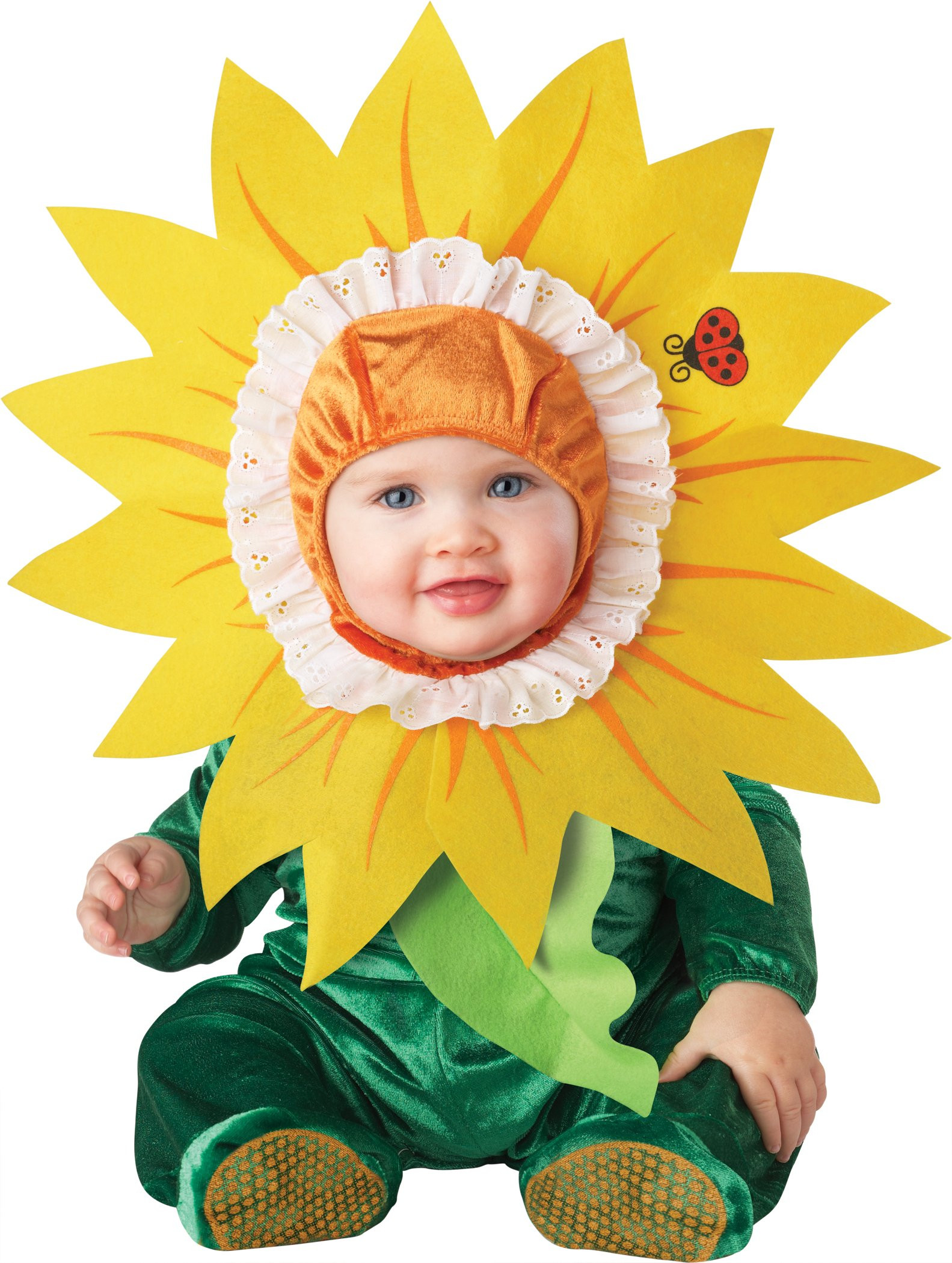 Baby Flower Halloween Costumes  Infant Baby Girls Sunflower Flower Halloween Costume
