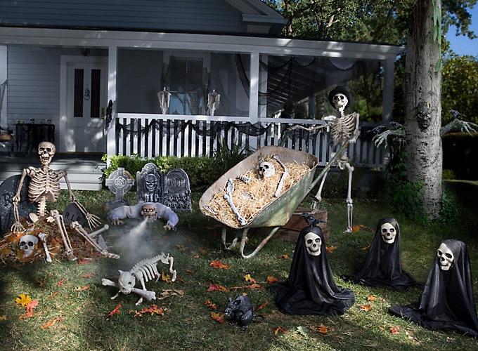 Backyard Halloween Party  Haunted House Yard Ideas Halloween Party Ideas Holiday