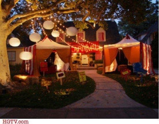 Backyard Halloween Party  Creepy Carnival Tents for an Outdoor Halloween Theme