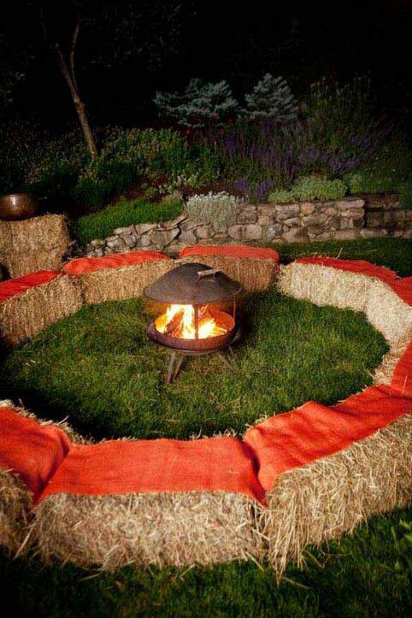 Backyard Halloween Party  26 Awesome Outside Seating Ideas You Can Make with