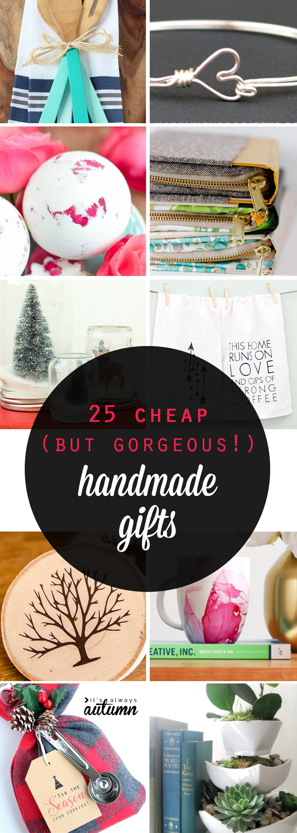 Best Christmas Gift Ideas  25 cheap but gorgeous  DIY t ideas It s Always Autumn