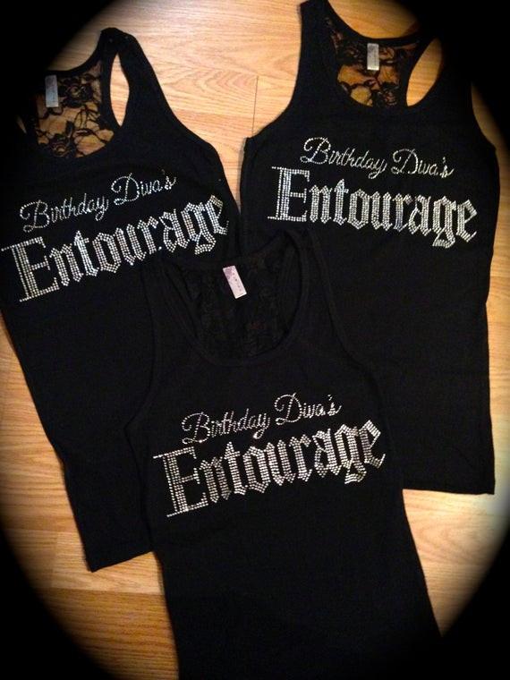 Birthday Party T Shirts Ideas  3 Birthday Shirts Birthday Diva s Entourage shirt
