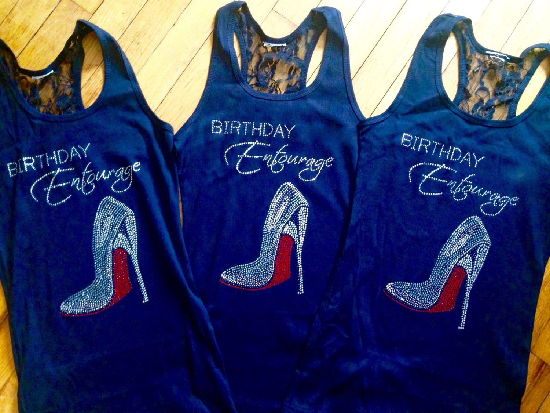 Birthday Party T Shirts Ideas  Set of 7 womens rhinestone birthday shirts Birthday