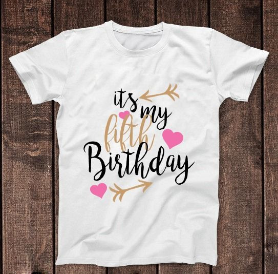 Birthday Party T Shirts Ideas  It s My 5th Fifth Birthday T Shirt Childrens Kids T