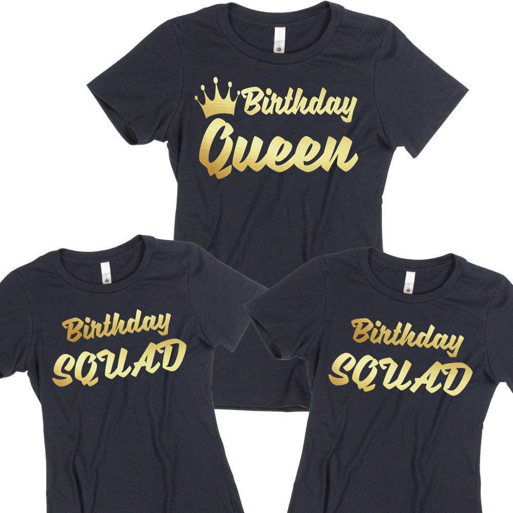 Birthday Party T Shirts Ideas  Birthday TSHIRT Birthday Queen Squad Lady Tee Shirt