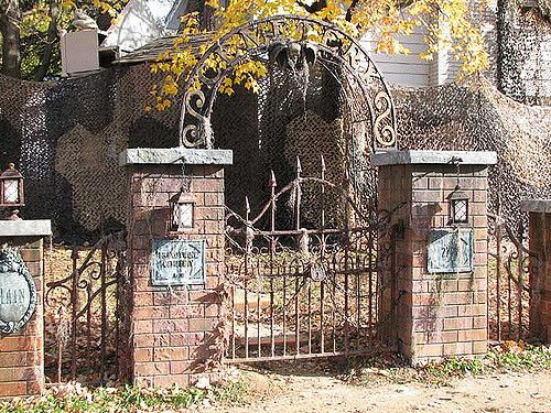 Cemetery Fence Halloween Prop  94 best Cemetery Fences & Gate Ideas images on Pinterest