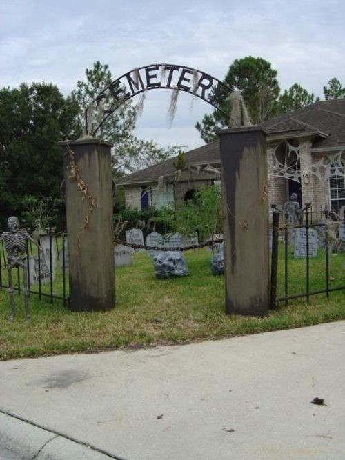 Cemetery Fence Halloween Prop  halloween graveyard arch