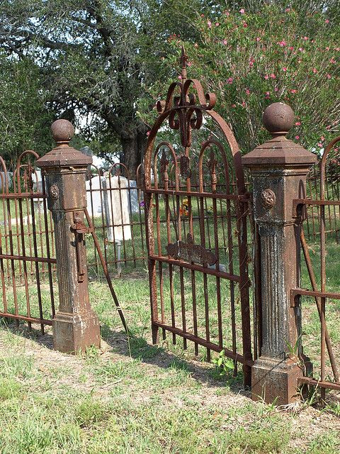 Cemetery Fence Halloween Prop  rusted iron cemetery fence