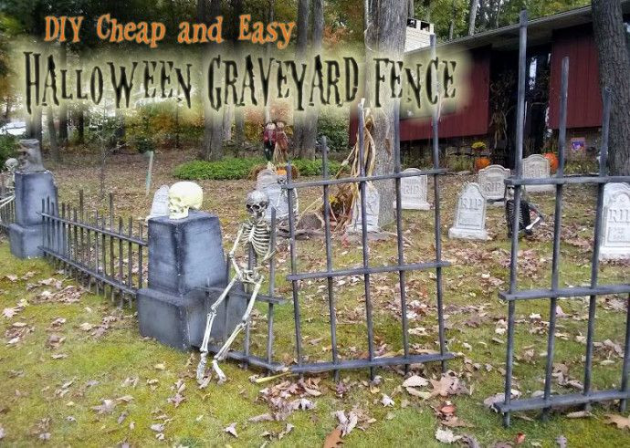 Cemetery Fence Halloween Prop  1000 images about DIY CEMETERY on Pinterest