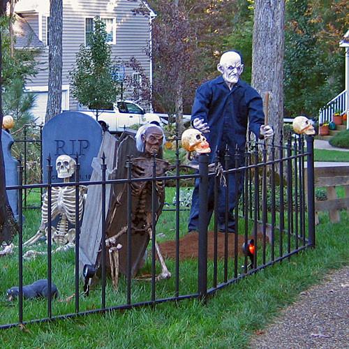 Cemetery Fence Halloween Prop  ScareFX Halloween Props Graveyard Items
