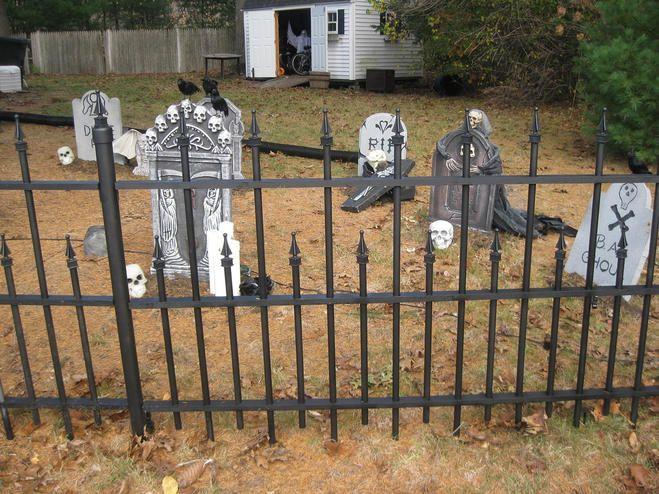 Cemetery Fence Halloween Prop  275 best Halloween Cemeteries images on Pinterest