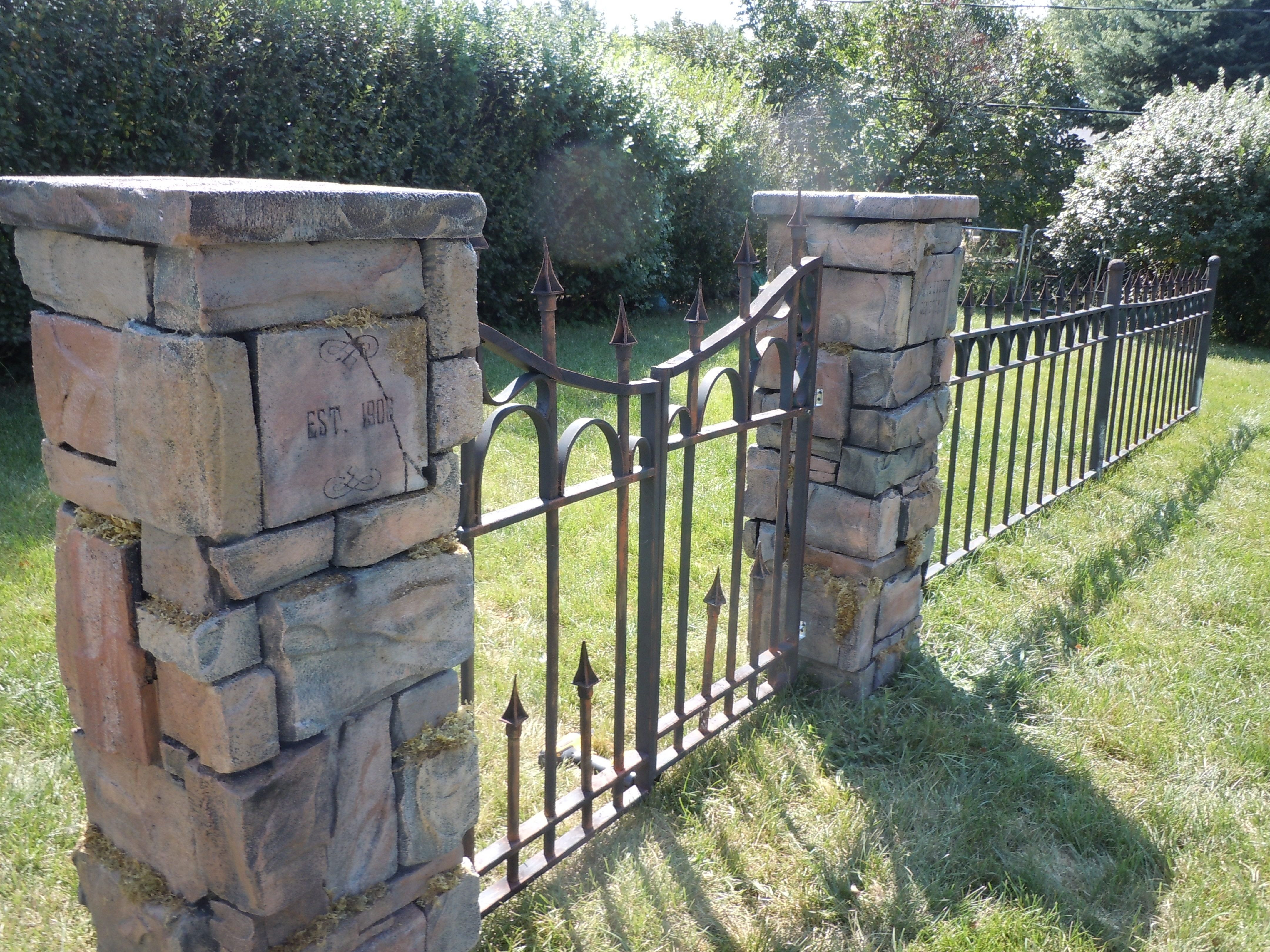 Cemetery Fence Halloween Prop  Cemetery columns gate and fence