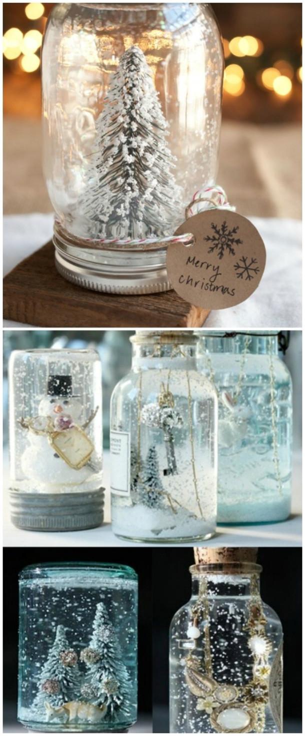 Christmas Decoration DIY Pinterest  10 Mason Jar Christmas Crafts And Decor