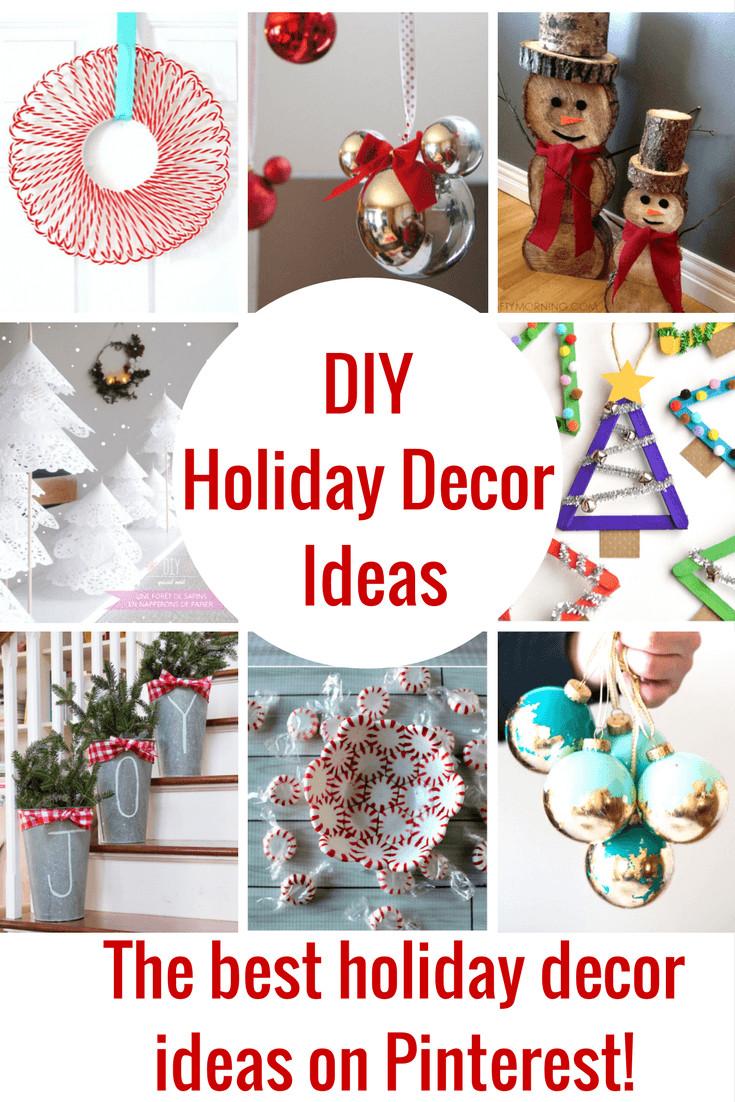 Christmas Decoration DIY Pinterest  The Best DIY Holiday Decor on Pinterest Princess Pinky Girl