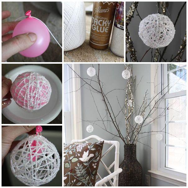 Christmas Decoration DIY Pinterest  DIY Christmas Snowball Ornaments s and