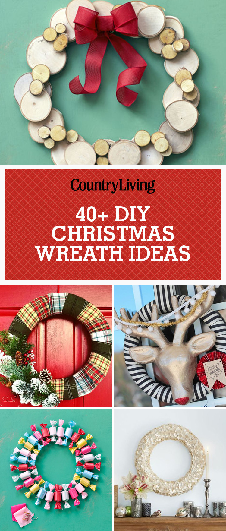 Christmas Decoration DIY Pinterest  40 DIY Christmas Wreath Ideas How To Make Holiday