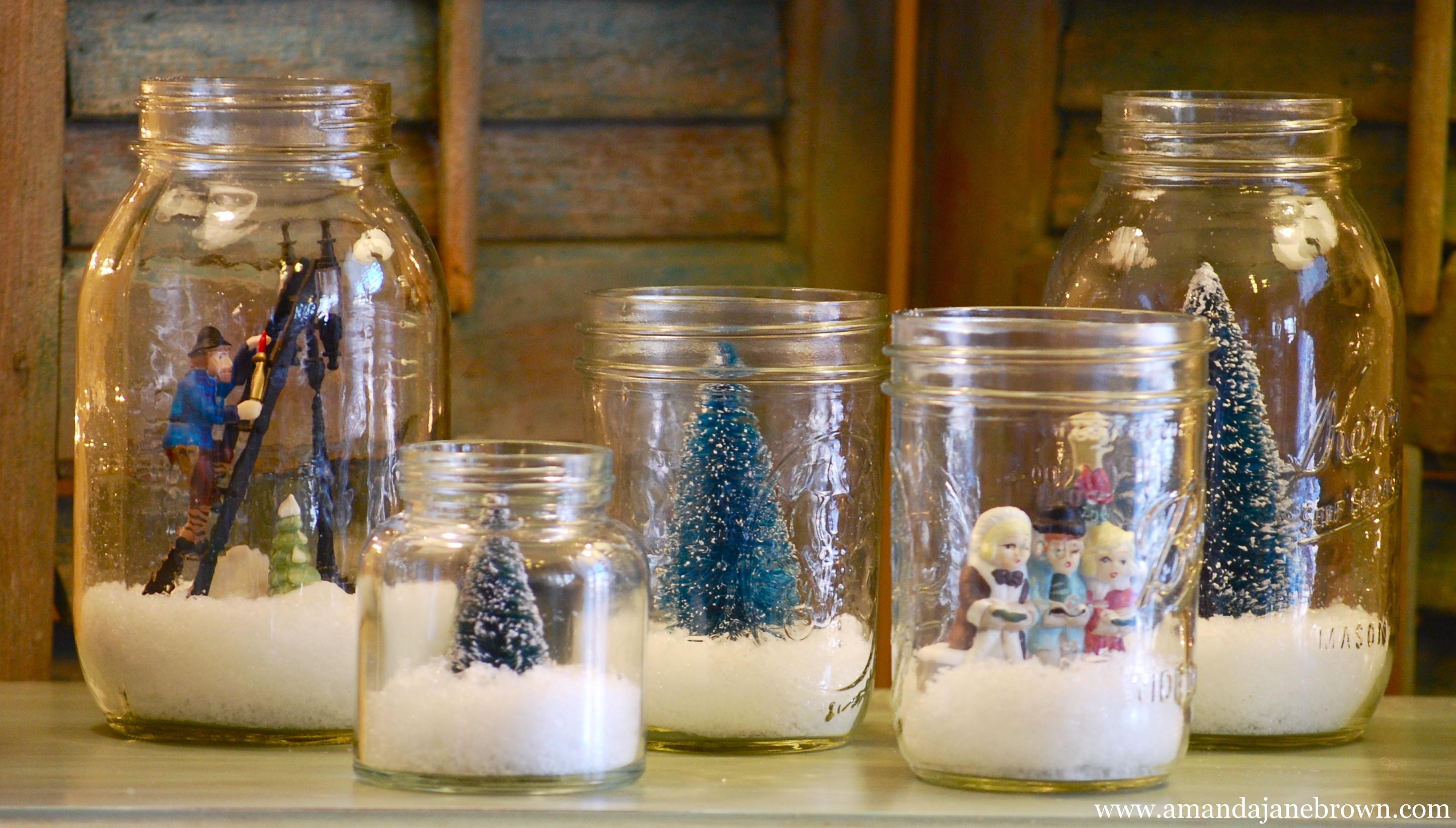 Christmas Decoration DIY Pinterest  DIY Snow Globes Amanda Jane Brown