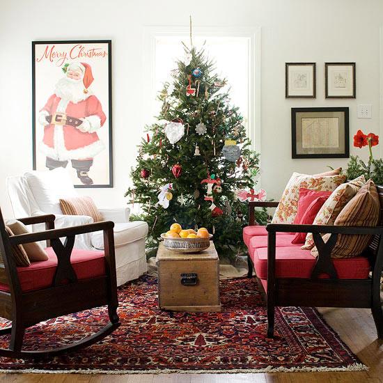 Christmas Decorations For Small Apartment  25 Christmas living room design ideas