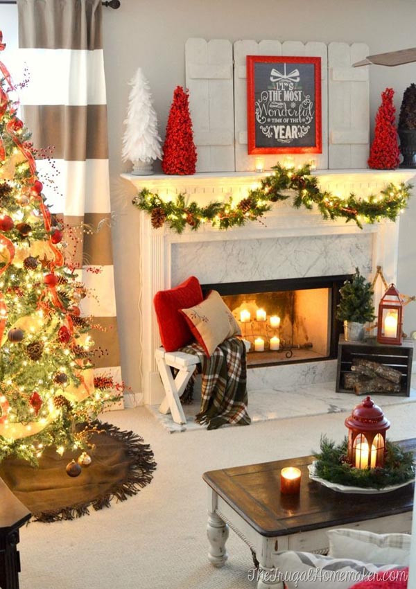 Christmas Decorations For Small Apartment  Christmas Living Room Decorating Ideas