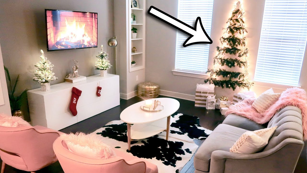 Christmas Decorations For Small Apartment  DIY Christmas Tree Wall Great for Small Spaces My
