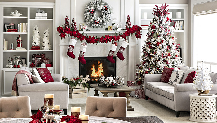 Christmas Decorations For Small Apartment  Open Plan Living Space Holiday Decor Ideas