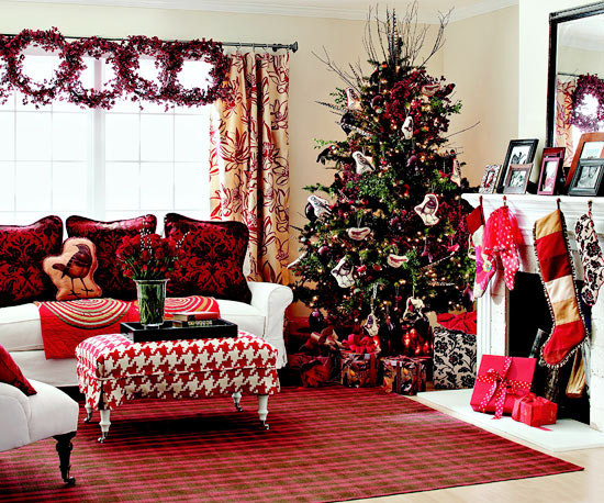 Christmas Decorations For Small Apartment  25 Christmas Living Room Decor Ideas