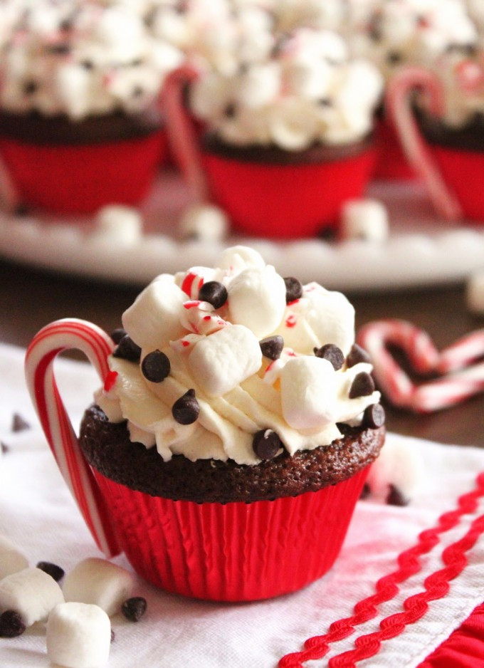 Christmas Dessert Ideas For Party  Hot Cocoa Chocolate Cupcake – Christmas Party Dessert Food
