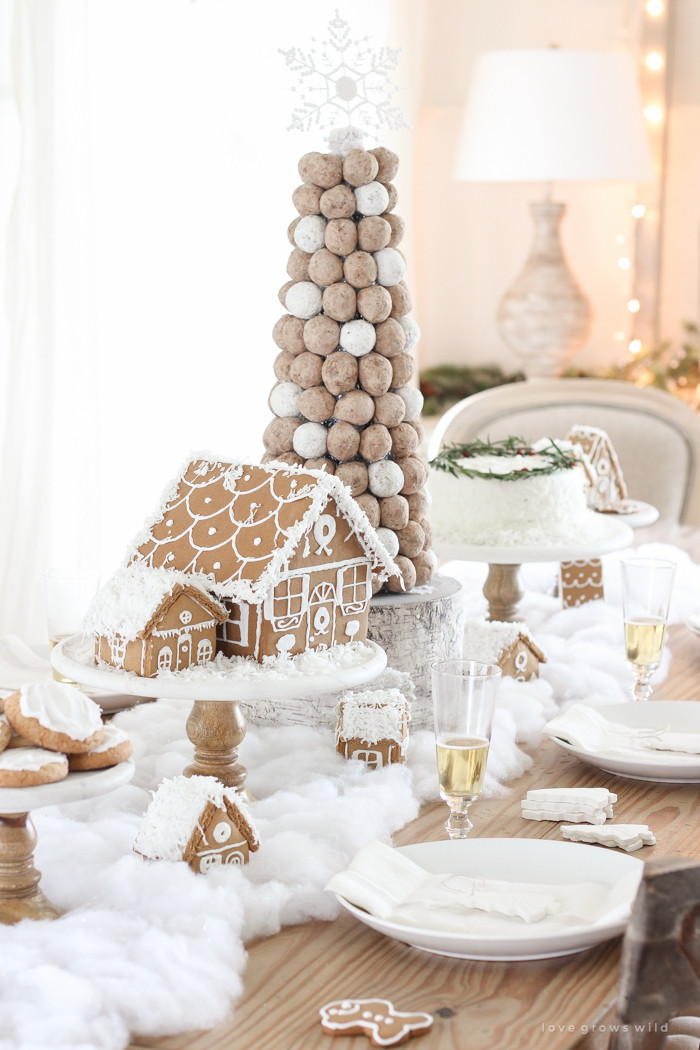 Christmas Dessert Table  Christmas Dessert Table in the Dining Room Love Grows Wild
