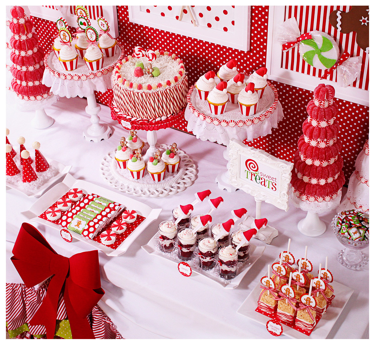 Christmas Dessert Table  Amanda s Parties To Go Candy Christmas Dessert Table
