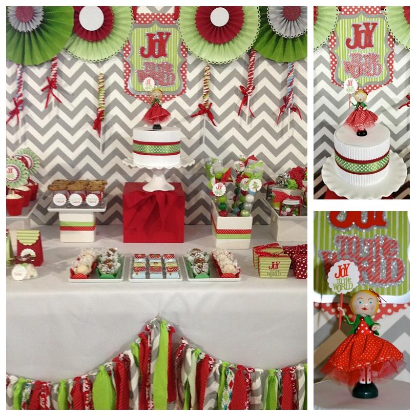 Christmas Dessert Table  sweet bambinos Christmas Dessert Table