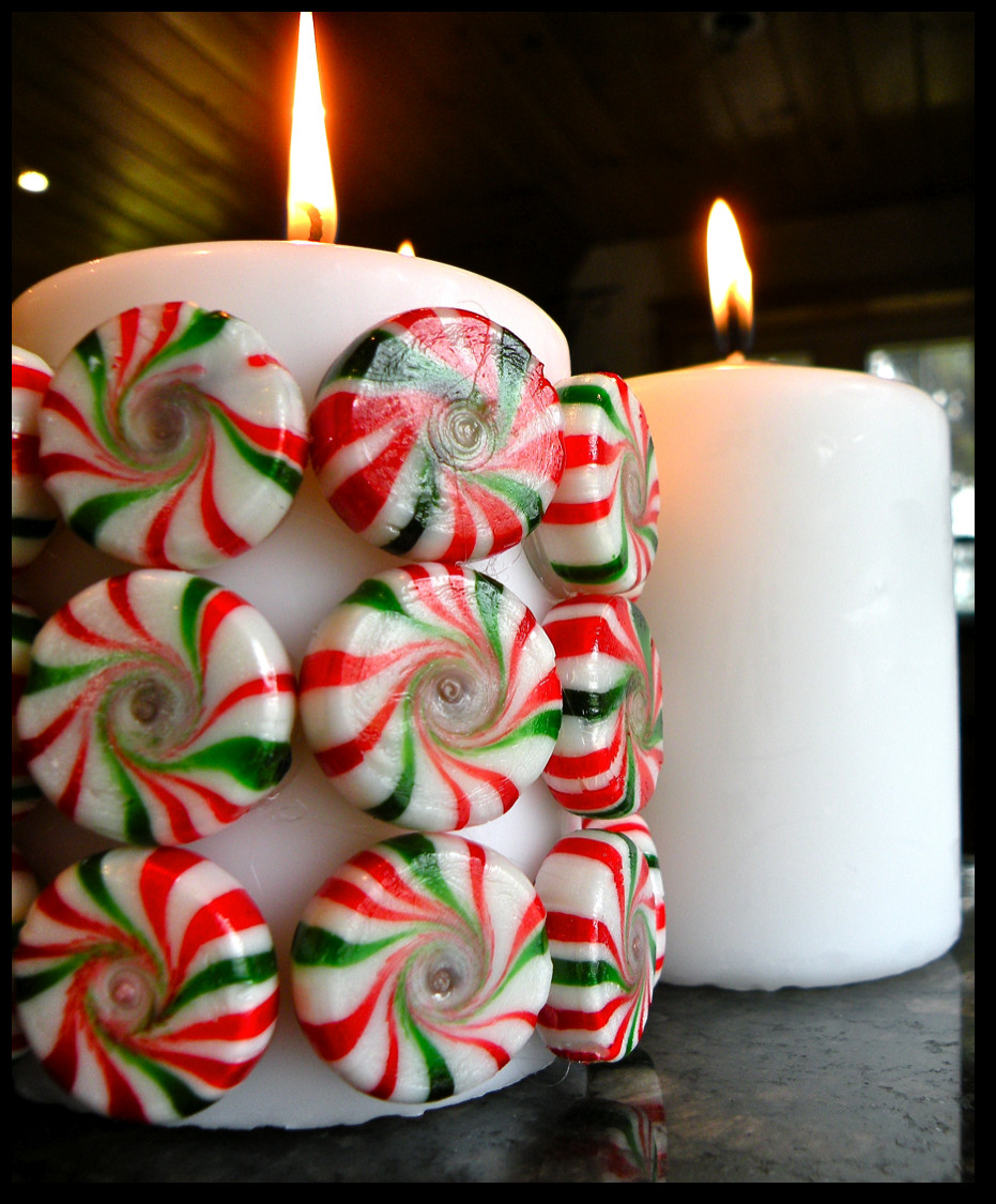 Christmas DIY Crafts  Killer Crafts DIY Holiday Peppermint Candy Candle