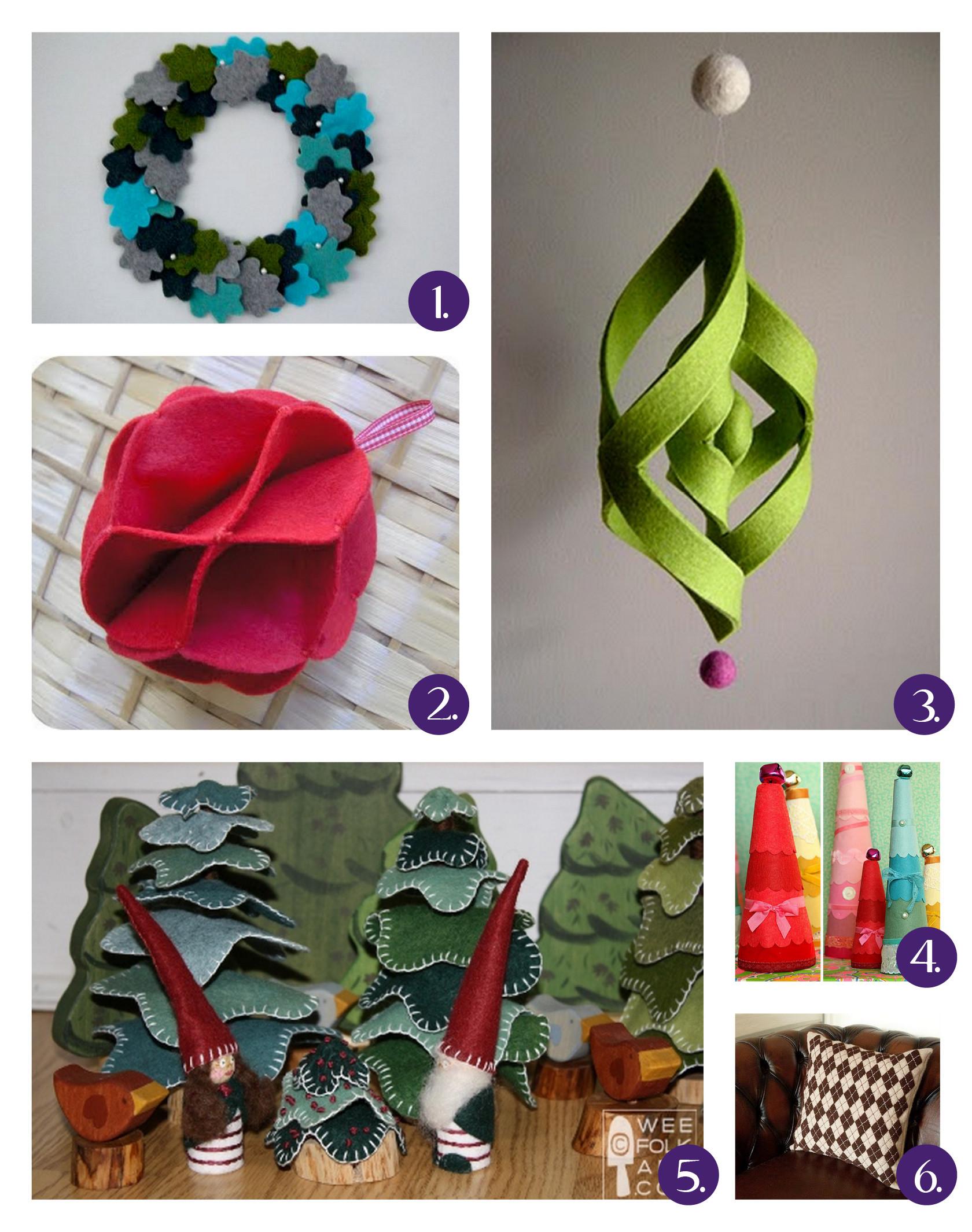 Christmas DIY Crafts  DIY Christmas Felt Crafts