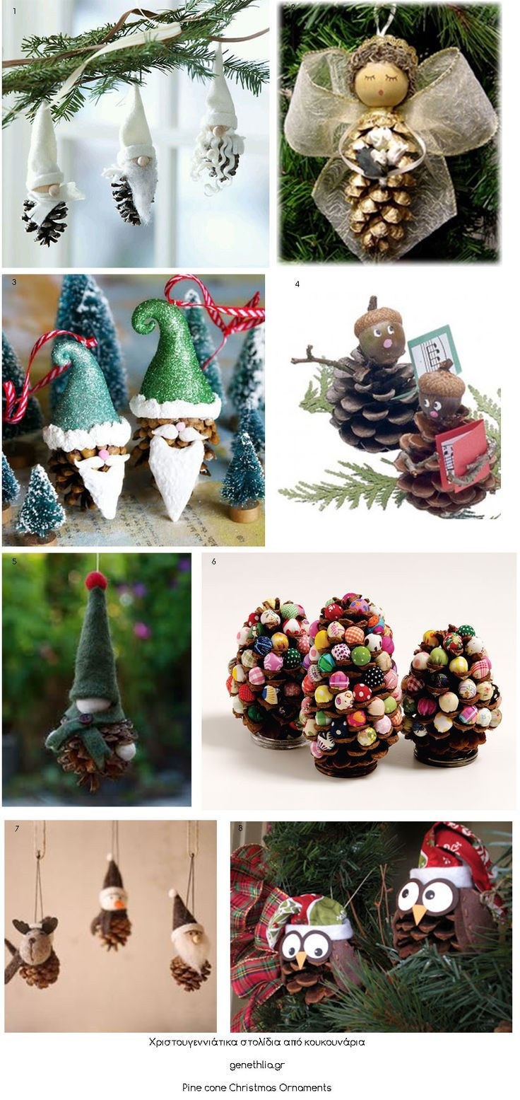 Christmas DIY Crafts  1331 best PINE CONE DECORATIONS images on Pinterest