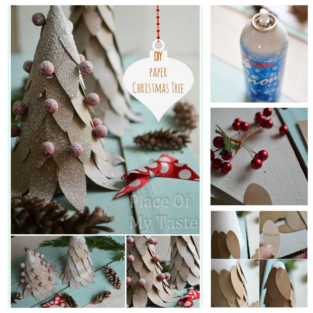 Christmas DIY Crafts  DIY Paper Christmas Tree Craft s and