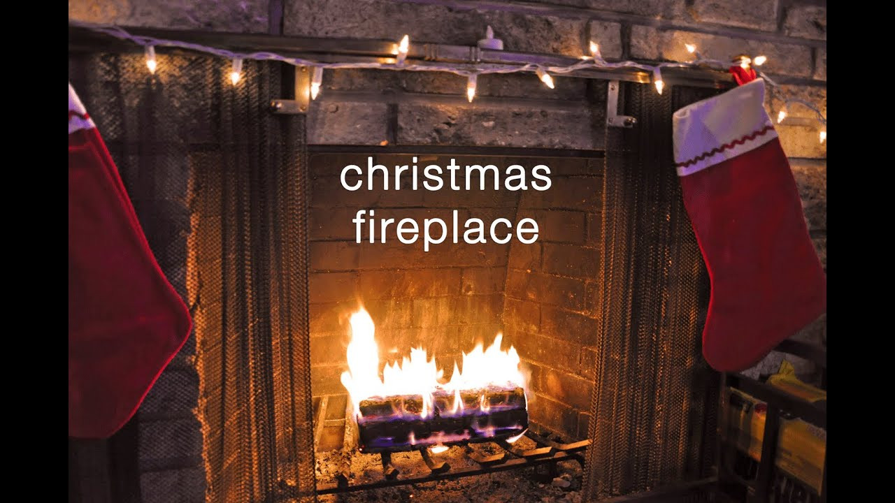 Christmas Fireplace Music  Crackling Fireplace Christmas Music Relaxation Video HD