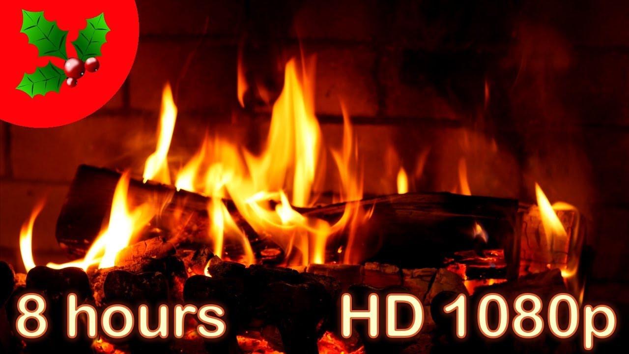 Christmas Fireplace Music  8 HOURS ☆ CHRISTMAS MUSIC Instrumental ♫ FIREPLACE ☆ YULE