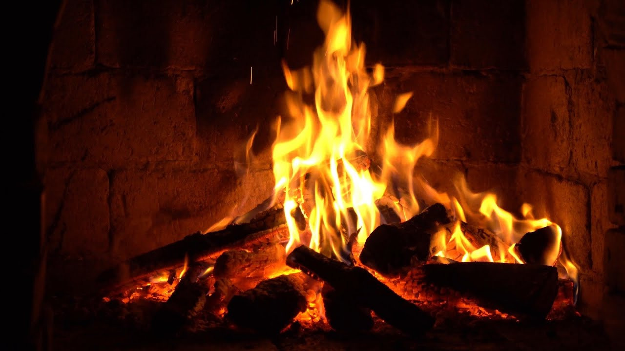 Christmas Fireplace Music  Instrumental Christmas Music with Fireplace 24 7 Merry
