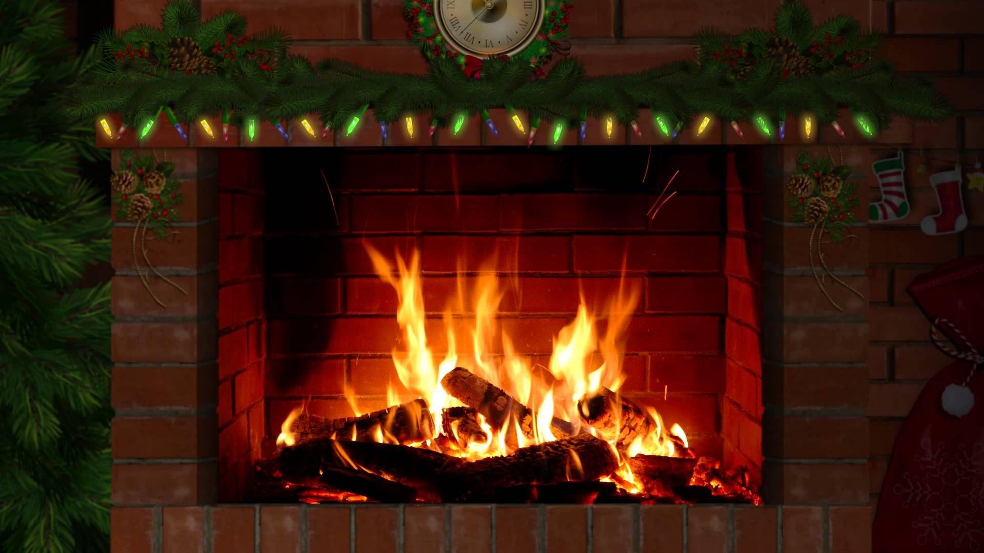 Christmas Fireplace Music  Fireplace with Christmas music 3 hours Enjoy Christmas