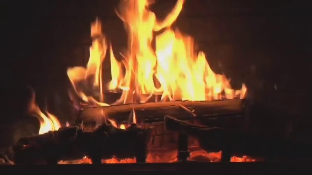 Christmas Fireplace Music  Fireplace with Christmas music