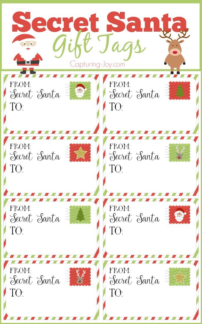 Christmas Gift Exchange Ideas  Secret Santa Gift Tags Secret Santa Gift Exchange Ideas