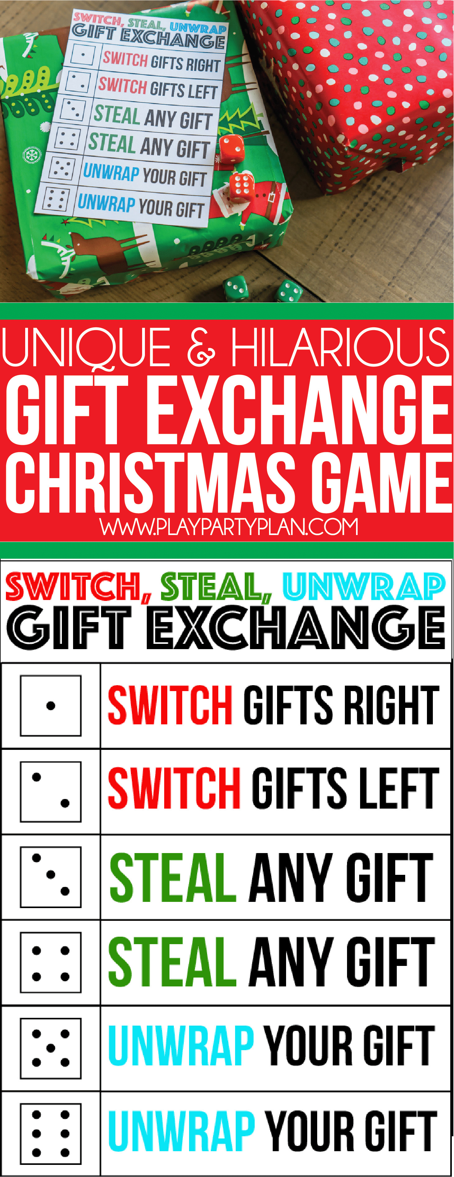 Christmas Gift Exchange Ideas  The Best Gift Exchange Game Ever Switch Steal or Unwrap