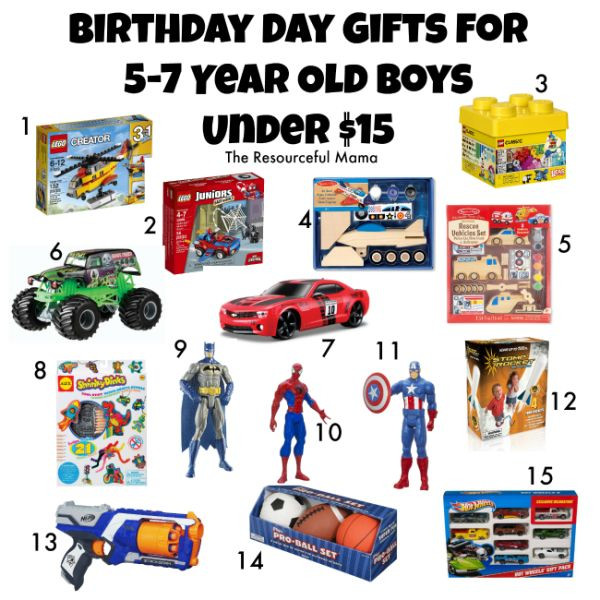 Christmas Gift Ideas 15 Year Old Boy  Birthday Gifts for 5 7 Year Old Boys Under $15