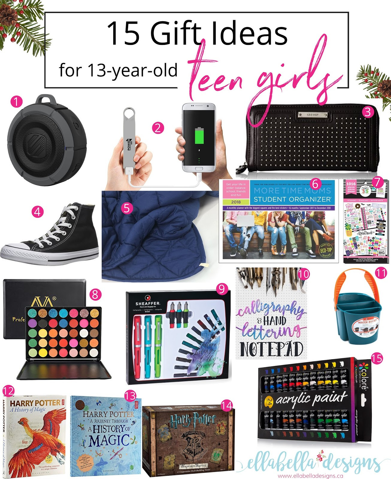 Christmas Gift Ideas For 13 Year Old Girl  Ellabella Designs 15 Gift Ideas for 13 year old Teen