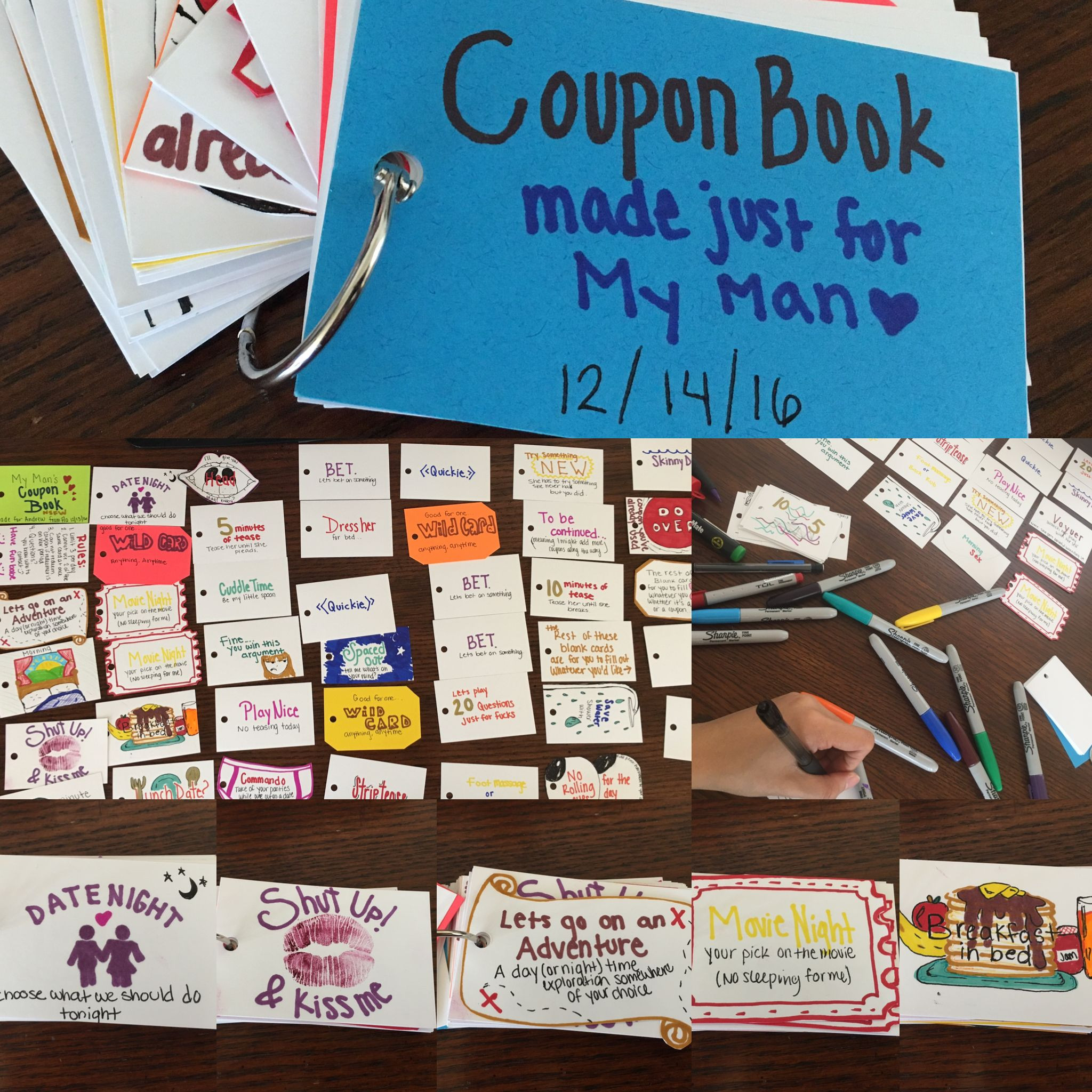 Christmas Gift Ideas For Boyfriend  A coupon book made for my boyfriend as a Christmas t