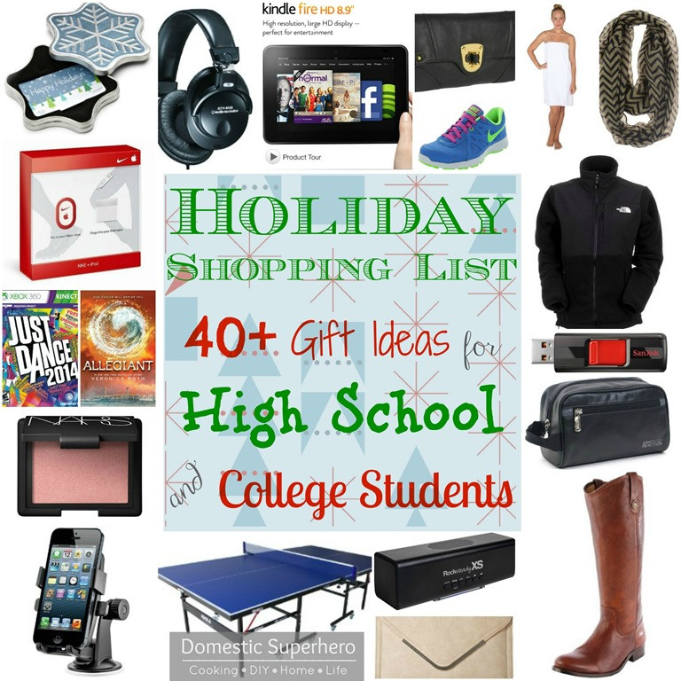 Christmas Gift Ideas For College Student  Holiday Shopping List 40 Gift Ideas for High School and