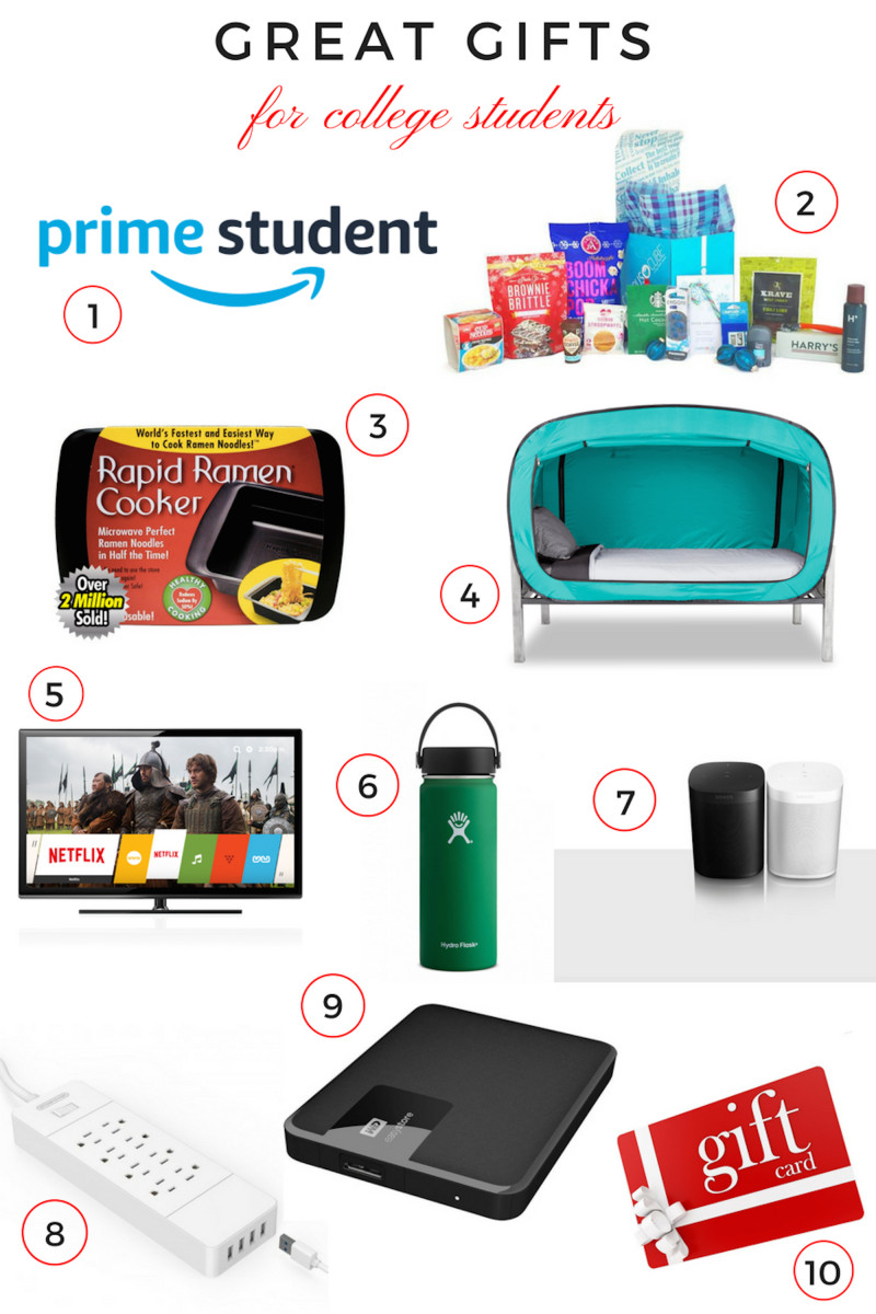 Christmas Gift Ideas For College Student  Top Gifts for College Aged students MomTrends