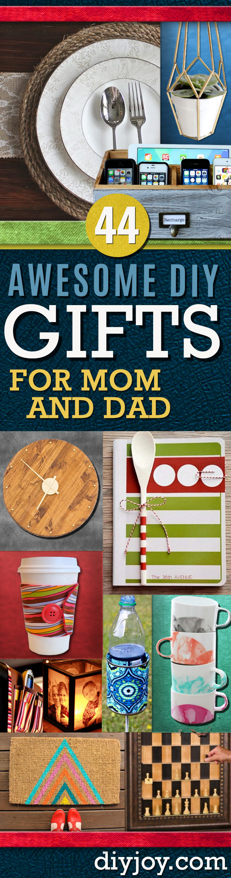Christmas Gift Ideas For Dads  Awesome DIY Gift Ideas Mom and Dad Will Love